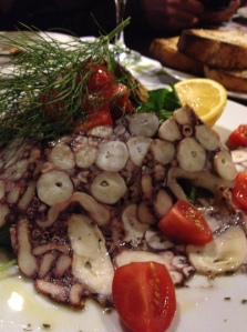 Basil's beautiful Octopus Carpaccio