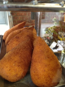 "Coxinha is Portuguese for ""little chicken thigh"""