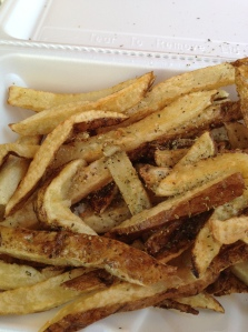 The famous french fries at Souvlaki King of Astoria