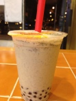 Sesame Boba Milk Tea at Tapioca Story