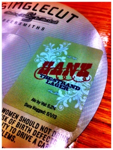 Keg Tag for HANK, SingleCut Beersmith's latest brew - photo credit @mikeanzz