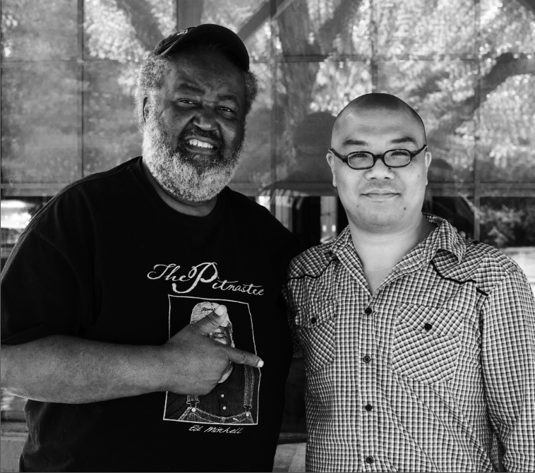 Tyson Ho and his teacher,  the legendary Pitmaster Ed Mitchell