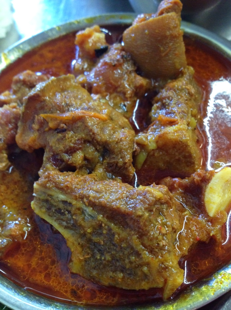 Gorgeous Goat Thali at Dhauligiri Kitchen in Jackson Heights
