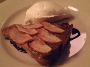 Vesta's Pear Tart with Balsamic Reduction