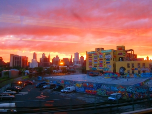 Sunset at 5Pointz - Photo Credit: Braden Ruddy