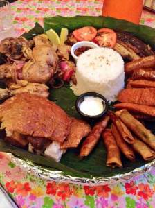 Salu-salo (Basket Feast)  at Papa's Kitchen in Woodside