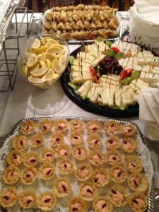 Caviar in filo and other event snacks from Zenon Tavena