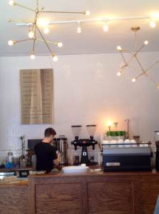 Kinship Coffee's interior is lovely and makes great use of space