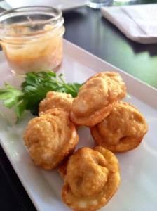 Fried Siberian-style dumpling at Bear